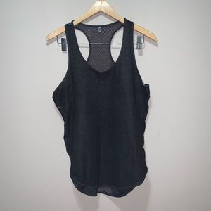Tresics Tank Top Cotton Front Netted Racerback